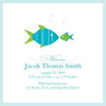 Birth Announcement - fishies