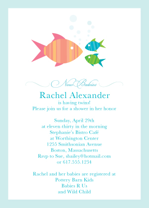 Baby Shower Invitation - Fishies