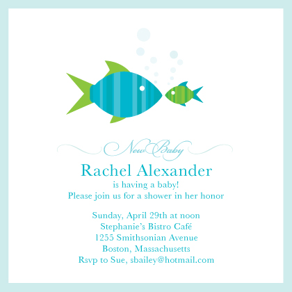 Baby Shower Invitation - Fishies