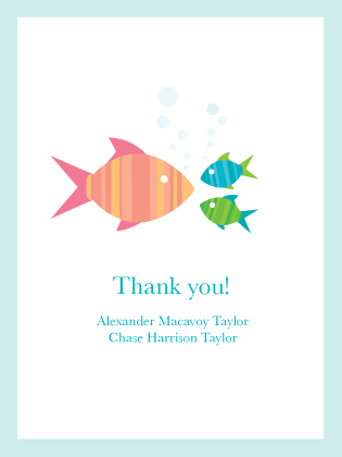 Baby Thank You Card - Fishies