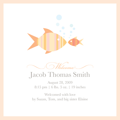 Birth Announcement - Fishies
