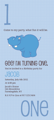 Birthday Party Invitation - Counting Card 1