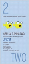 Birthday Party Invitation - counting card 2