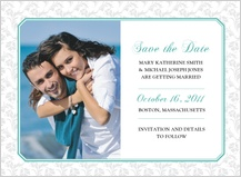 Save the Date Card with photo - soft and elegant