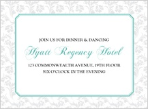Reception Card - soft and elegant