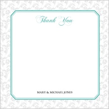 Wedding Thank You Card - soft and elegant