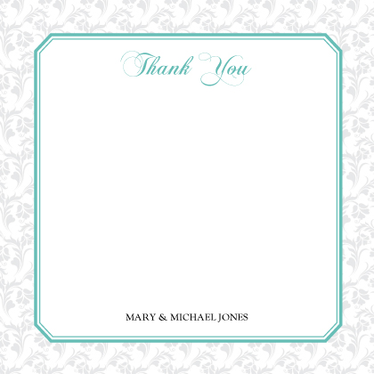 Wedding Thank You Card - Soft and Elegant