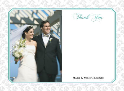 Wedding Thank You Card with photo - Soft and Elegant