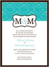 Wedding Invitation - traditional monogram