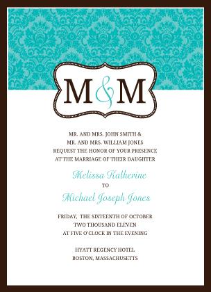 Wedding Invitation - Traditional Monogram