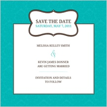 Save the Date Card - traditional monogram