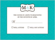 Response Card - traditional monogram