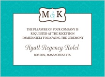 Reception Card - traditional monogram