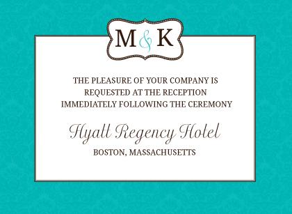 Reception Card - Traditional Monogram