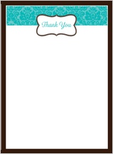 Wedding Thank You Card - traditional monogram