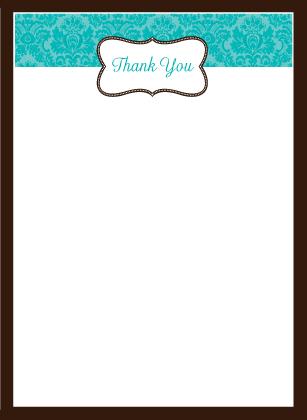 Wedding Thank You Card - Traditional Monogram