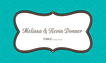 Place Card - Traditional Monogram