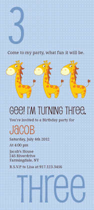 Birthday Party Invitation - Counting Card 3