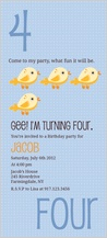 Birthday Party Invitation - counting card 4