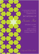 Bat Mitzvah Party Invitation - starlit
