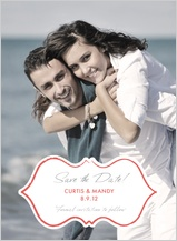 Save the Date Card with photo - charming & elegant