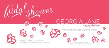 Wedding Shower Invitation - Swaying Flowers