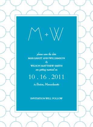 Save the Date Card - SIMPLE CHIC