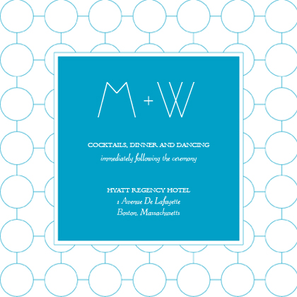 Reception Card - SIMPLE CHIC