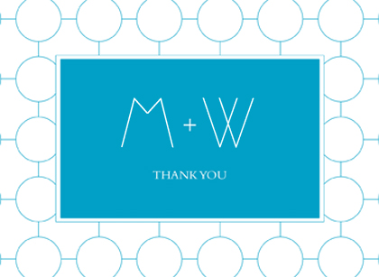 Wedding Thank You Card - SIMPLE CHIC