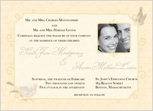 Wedding Invitation with photo - brocade