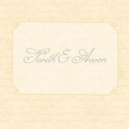 Wedding Thank You Card - brocade