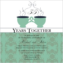 Anniversary Party Invitation - tea cup anniversary