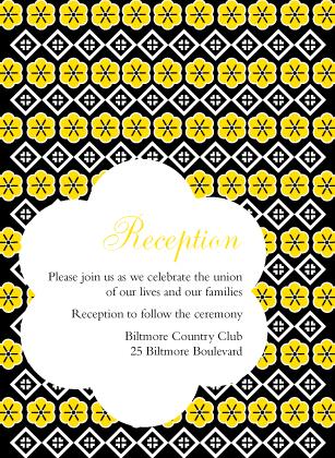 Reception Card - Posy Blooms