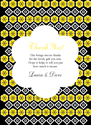 Wedding Thank You Card - Posy Blooms