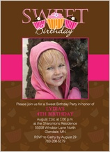 Birthday Party Invitation with photo - sweet brithday