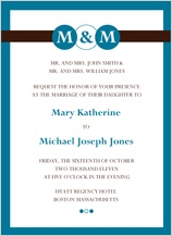Wedding Invitation - monogram circles