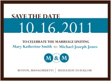Save the Date Card - monogram circles
