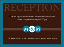Reception Card - monogram circles