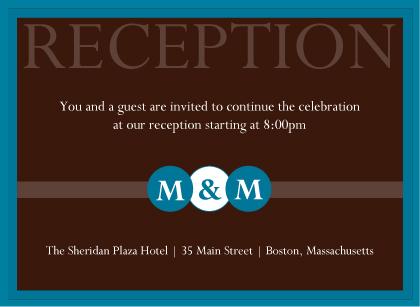 Reception Card - Monogram Circles