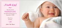 Birth Announcement with photo - flourish