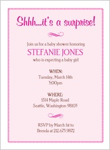Baby Shower Invitation - flourish