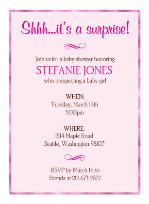 Baby Shower Invitation - Flourish