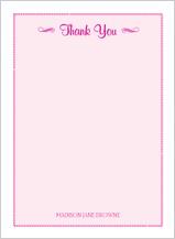 Baby Thank You Card - flourish