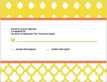 Response Card - bold trellis