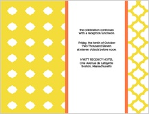 Reception Card - bold trellis