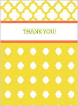 Wedding Thank You Card - bold trellis