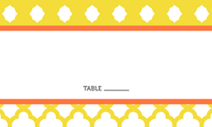 Place Card - BOLD TRELLIS