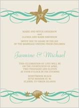 Wedding Invitation - beach love