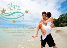 Save the Date Card with photo - beach love