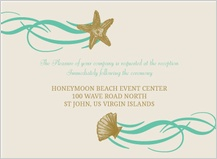 Reception Card - beach love
